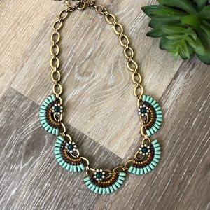 J. Crew Statement Fan Necklace